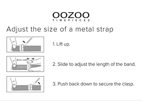 Oozoo Milanaiseband Uhrenband Armband Metallband Edelstahl Rosefarben 16 mm - OA-502-16