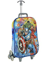 Bazaar Pirates School Bag With Trolley, Children Bag With Wheel, Kids Luggage Bag, Cartoon Bag With Wheel