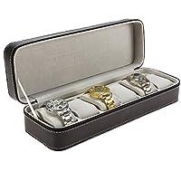 y2y3zfal Black 6 Booth Leather Watch Zipper Bag Storage Box Convenient Jewelry Storage Display Props