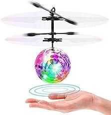 Flying Ball Fliegender Judgen Mini Hubschruber Leuchtung Kinder Fliegen Kugel LED Blitzen Licht Flugzeug Hubchrauber Infrarot-Induktions RC Spielzeug