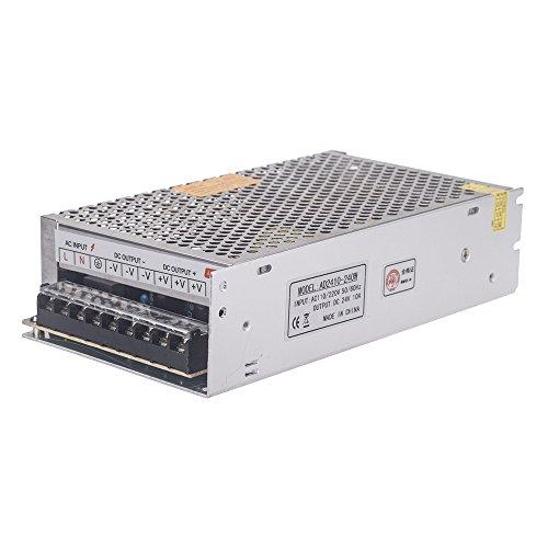 Docooler AC 110V / 220V zu DC 24V 10A 240W Spannungswandler Schalter-Spg.Versorgungsteil f¨¹r LED-Streifen 24v 10a Netzteil