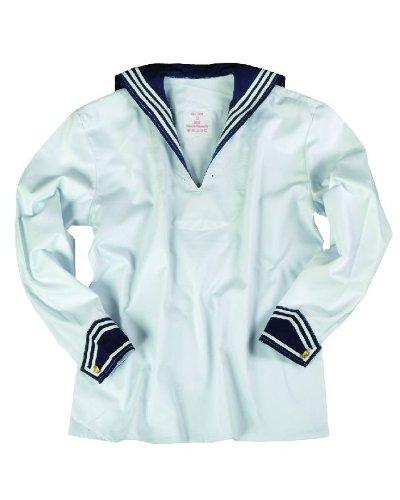 Marine Armee Kostüm - BW Marinehemd weiß mit Marinekragen 46
