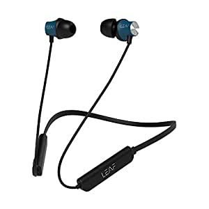 Leaf Collar Wireless Bluetooth Earphones with Mic, 45 Degree Ear Canals, 6 Hours Battery Life with Deep Bass (Gunmetal Black)