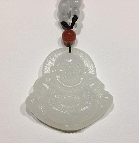 Pendiente Buda feliz - talisman del dinero - jadeita O-32