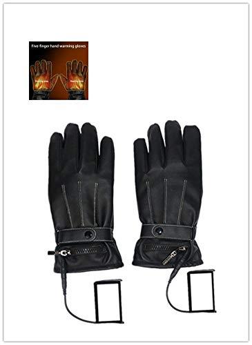 CampHiking Guantes calefactados de Acampada, Carga eléctrica, Calentamiento Grueso, Guantes de Motocicleta para Hombre y Mujer Invierno 5 Dedos cálidos
