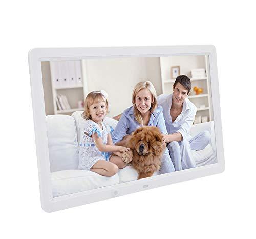 l-Fotorahmen, HD Multifunktions-Menschlicher Körper-Induktion E-Albums Video-Display-Rack Werbung Maschine Full-Format Unterstützt Broschüre,White ()