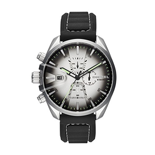 Diesel Hommes Chronographe Quartz Montre avec Bracelet en Silicone DZ4483