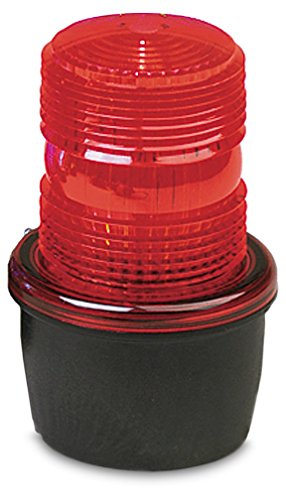 Federal Signal LP3S-012-048R Streamline Low Profile Strobe Light, Surface Mount, 12-48 VDC, Red by Federal Signal -