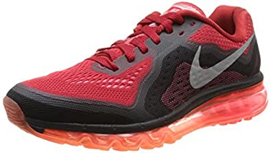 Nike Mens Air Max 2014 Running Shoes GYM RED/REFLECT SILVER-HYPER PUNCH 10 D(M) US