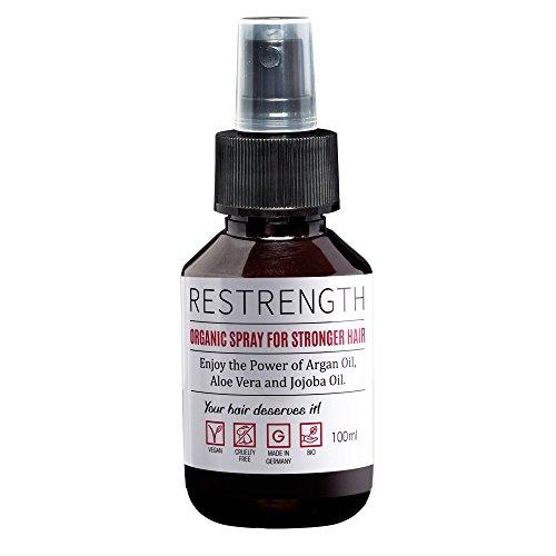 Haarwachstum Spray Restrength | Haar Öl zum Sprühen | Mit Arganöl, Aloe Vera & Jojobaöl | Haarwachstum beschleunigen | Haarwachstum...