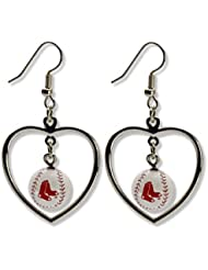 Red Sox de Boston Boucles d'oreilles Mini Coeur de base-ball