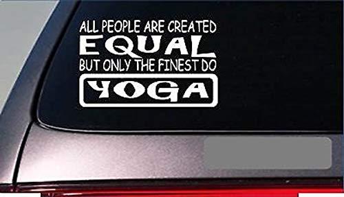 CELYCASY Yoga Equal StickerG766 20,3 cm Vinyl Hot Yoga Pants Pose Matte Blocks Class Course