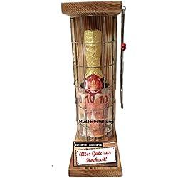 Alles Gute zur Hochzeit - Eiserne Rerserve – Geldgeschenk - Sektflasche zum selbst Befüllen mit Geld, Süßigkeiten… Die neue orginelle Geschenkverpackung! Geld kreativ verschenken!