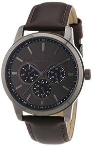 TOM TAILOR Herren-Armbanduhr XL Analog Quarz Leder 5410404