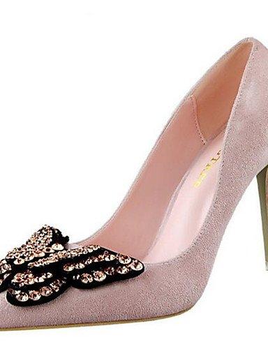 WSS 2016 Chaussures Femme-Habillé-Noir / Rose / Rouge / Gris-Talon Aiguille-Talons-Talons-Synthétique gray-us6.5-7 / eu37 / uk4.5-5 / cn37