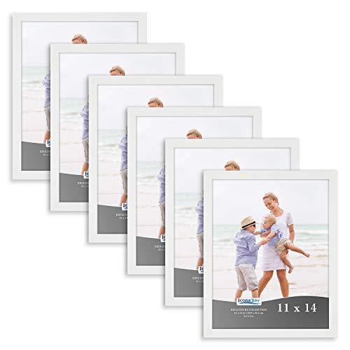 Icona Bay Bild Dokument Frames, 4x 65x 78x 10, 8,5x 11, 11x 14Foto Rahmen, Exclusives Collection 11x14 (6 Pack) weiß