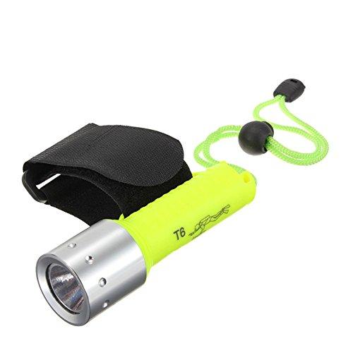 Sandy Cowper Wasserdichte LED-Taschenlampe Unterwasser-Tauchlampe Taucherleuchten 18650 Batterien Taschenlampe Einstellbare Unterwasser-Taschenlampe Angeln Jagd