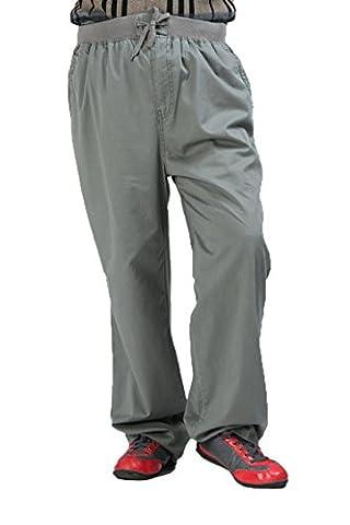 Fertilizer Men's Pants Fat Man Pant Overalls High Waist Elastic Loose Trouser (color#3, 6XL)