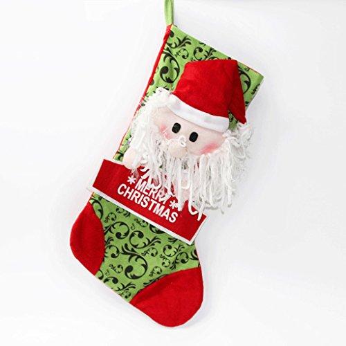 Wand-hurrikan-kerze (Weihnachtsdekorations-Feiertags-Einzelteile 55 * 35cm XL Weihnachtsstrumpf-Geschenk-Tasche ( Color : Santa Claus ))