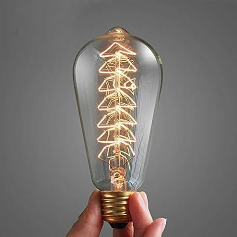 Bazaar Ampoule à incandescence de 40W e27 ST64 Edison de la lumière de Noël vintage d'arbre