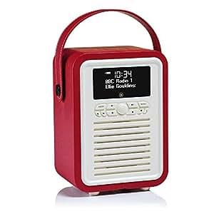 Radio View Quest Retro Mini DAB+ con altoparlante Bluetooth - Rosso