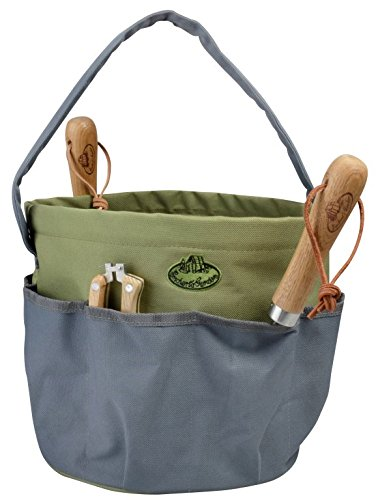 Esschert Design Gartengerätetasche rund, grau, 28 x 28 x 26, GT89 - Garden In A Bag