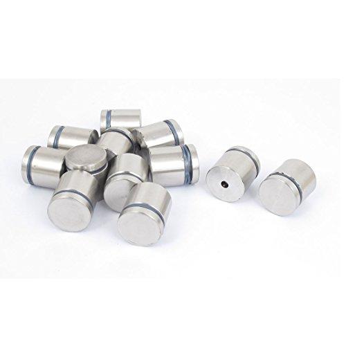 Aexit 25mm x 25mm Edelstahl Werbung Frameless Glass Pins 12pcs (a91e02f3e42229136fbf5e7e8f244544)