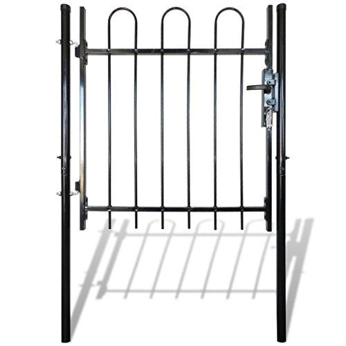 Festnight cancello recinzione singolo con cime arrotondate 100 x 150 cm