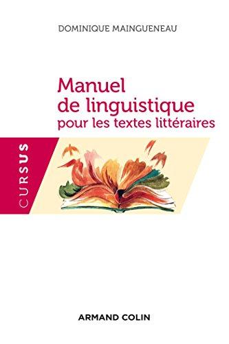 Manuel de linguistique pour les textes littraires