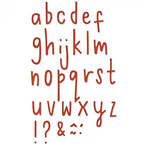 Sizzix 661041 Delikate Buchstaben 2 Thinlits Stanzen, 30 in Packung, Stahl, mehrfarbig, 24.1 x 10.19 x 0.2 cm (Buchstaben Stanzen)