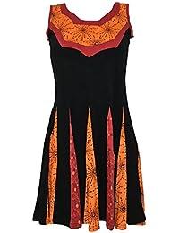 Robe Courte Corolympe imprimé deux Tons Orange