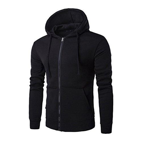 ZKOO Sweatshirt à Capuche Homme Manches Longues Hoodies Sweat-shirt Veste Zipper Sweat à Capuche Pullover Automne Hiver