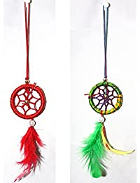 Odishabazaar Dream Catcher For Car Or Home Wall Hanging Keychain Pack Of 2