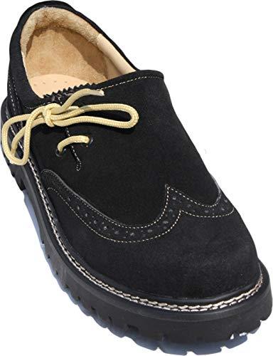 German Wear Haferlschuhe Trachtenschuhe Brogue Original-Handmachart, Farbe:Schwarz, Schuhgröße:46