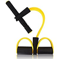 Demarkt Universal Home Fitness Equipment Sculpture Tummy Trainer Foot Pedal Expander Elastic Pull Rope Abdomen Waist Arm Leg Tummy Stretching Slimming Yoga Crunches