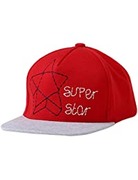 Happy Cherry Bébé Casquette de Base-ball en Coton Imprimé à Étoile Casquette Hat pour Garçon Fille Tour de Tête 46-54cm (12mois-6ans) Bleu/Rouge