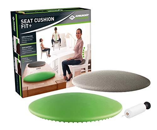 Schildkröt Fitness Seat Cushion Fit+, neuartiges Sitzkissen, Balance Cushion in Linsenform, mit Stoffbezug und Pumpe, inkl. Übungsposter, 960037