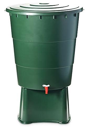 Regentonne 200 Liter inkl. Deckel, Ständer und Auslaufhahn