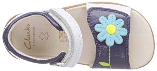 Clarks Kids Softly Eve Fst, Chaussures Marche Mixte Bébé Bleu (Navy Combi Lea)
