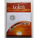 Bajera ajustable Tolrá 50% algodón-50% poliéster (105x180/190cm, blanco)