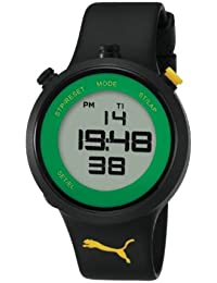 Puma Go Jam Unisex Digital Watch with LCD Dial Digital Display and Black Plastic or PU Strap PU910901007