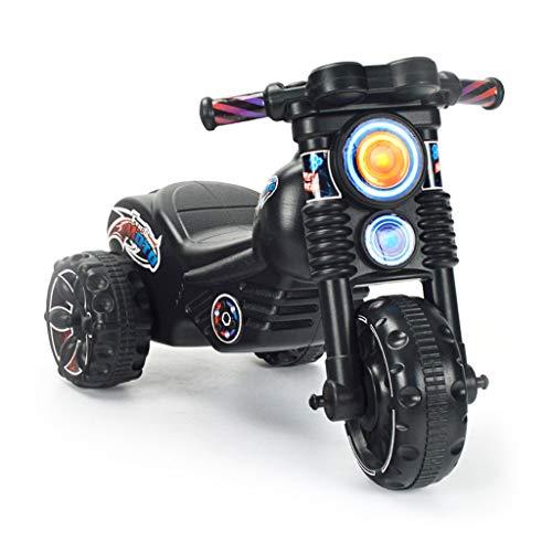 Veicoli a spinta e ruote Bambini Twist Car Baby Yo Car Uomini E Donne Girl Toy Car 1-3 Moto A Tre Ruote Regalo di Compleanno per Bambini Materiale ABS (Color : Black, Size : 64 * 43cm)