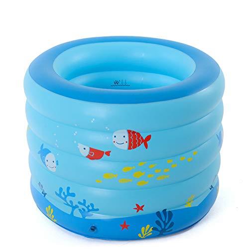 SUWIN Rundes aufblasbares Baby-Schwimmbecken mit Cartoon, große Schwimmwanne, isoliertes Kinderplanschbecken, aufblasbare Wanne, 106 x 75 cm