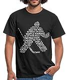 Spreadshirt Eishockey Torwart Begriffe Eishockeyspieler Männer T-Shirt, M, Schwarz