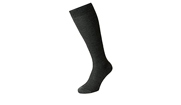 Dark Grey Mabledon Merino Wool Over the Calf Socks by Pantherella ...