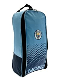 Manchester City FC Football Team Boot Shoe Zip Bag with Handle