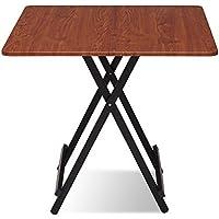 Yuan Table Pequeña Mesa Plegable de Madera - Cocina y Mesa de Comedor Acampar al Aire Libre - Plaza - Mesa Plegable - estación de Trabajo informática/Desk (Color : #1)