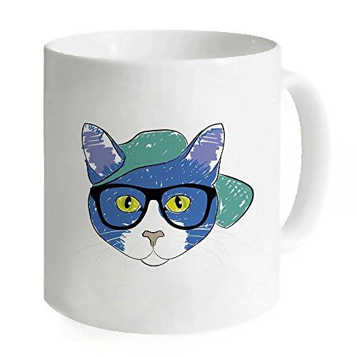 """okoukiu Cute Cat Animal Design Mug-Tazza da tè personalizzato regalo per compleanno, Natale e nuovo year-3.7""""X 3.1"""""""
