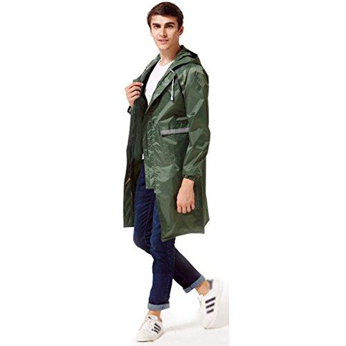 Raincoat homme à lextérieur hommes et femmes à leau poncho imperméable à longue section (taille: L) ( Couleur : B , taille : M ) C
