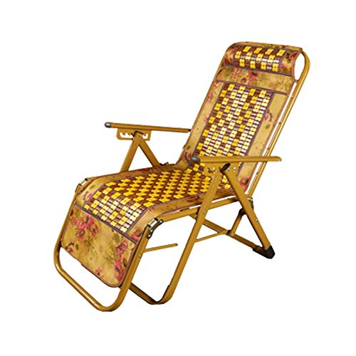 AZHom Sommer Mahjong Mat Lounge Chair Klappstuhl Lounge Chair Lazy Office Nap Mittagspause -